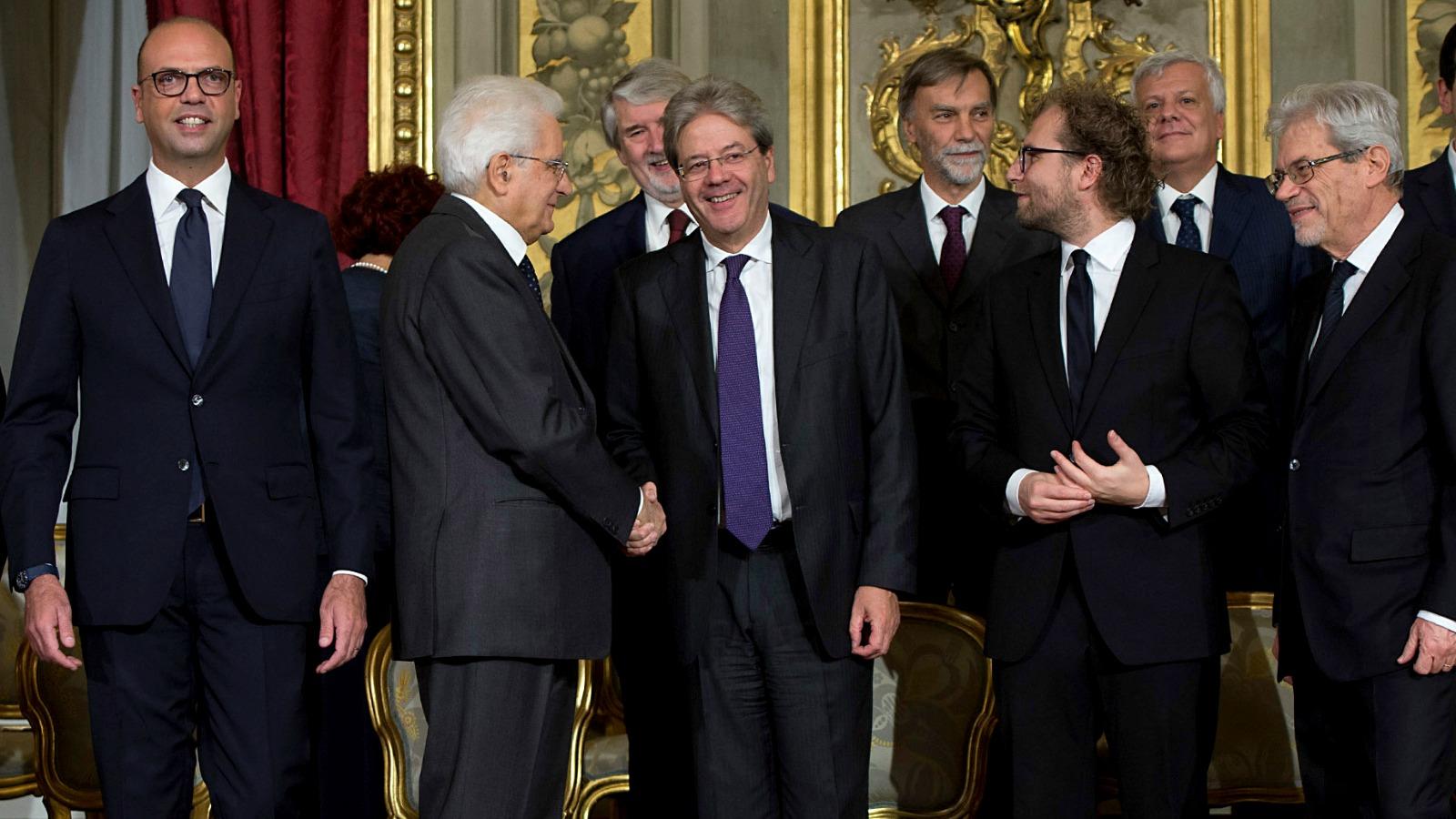 Gentiloni-cabinet-sworn-in
