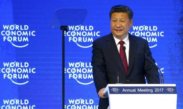 Čínsky prezident Si Ťin-pching na ekonomickom fóre v Davose