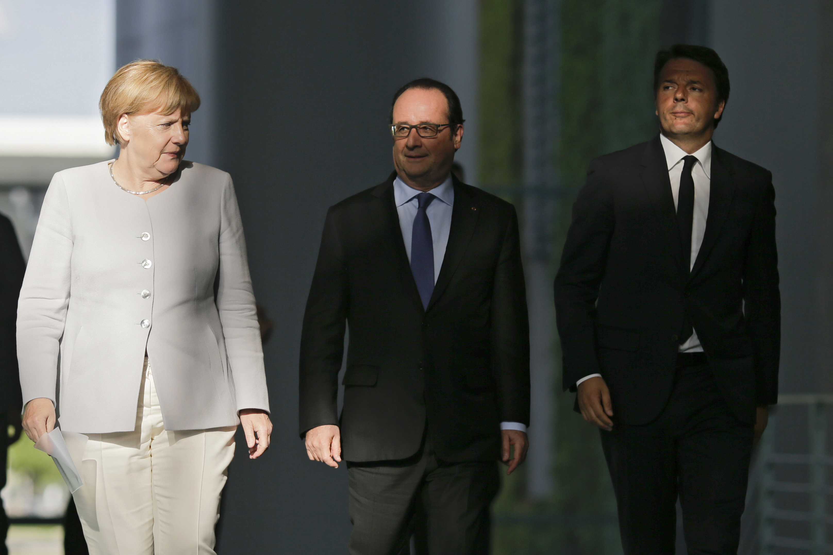 lídri Angela Merkelová, Francois Hollande, Matteo Renzi