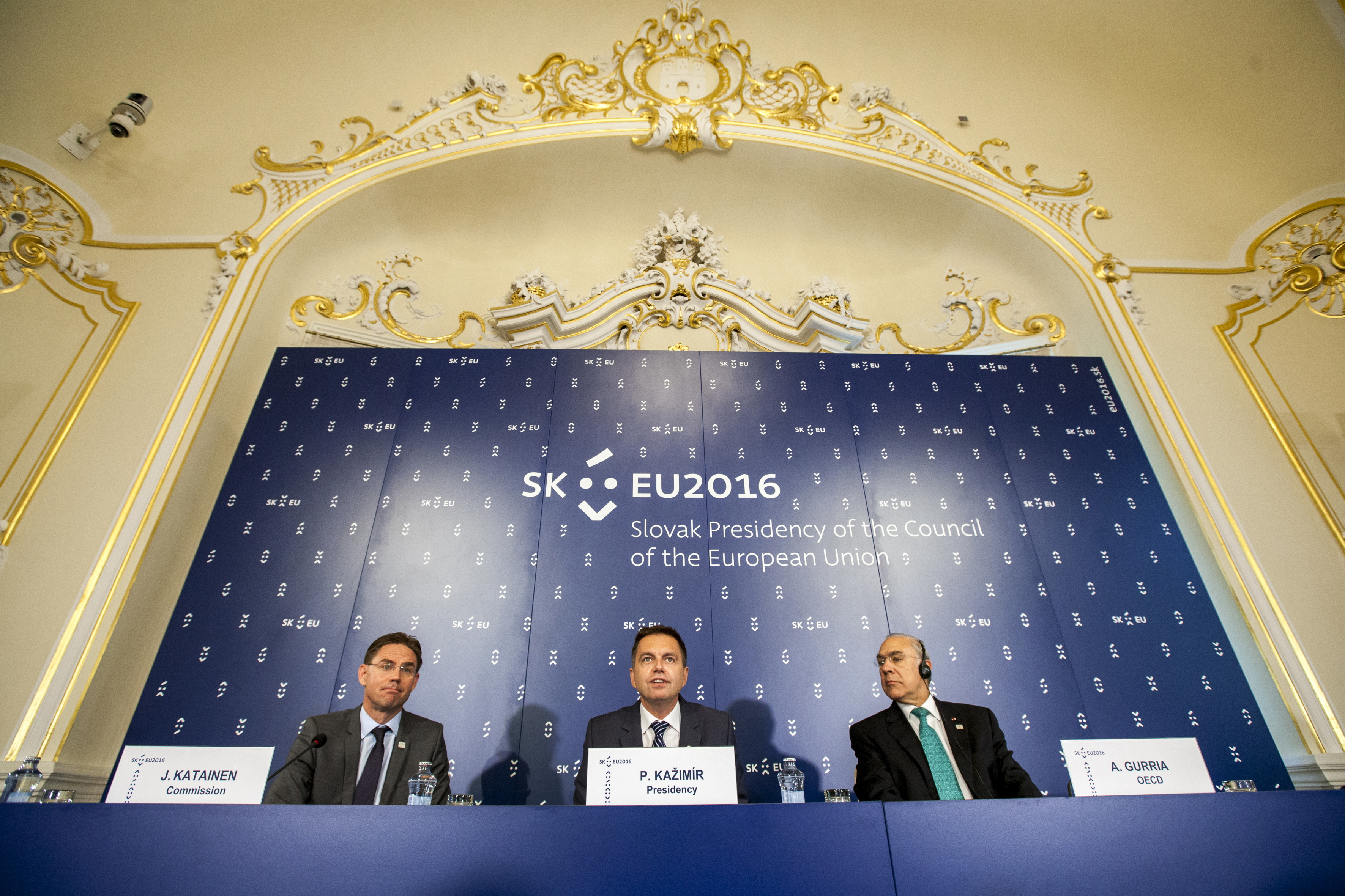 Kažimír, ECOFIN, tlačová konferencia