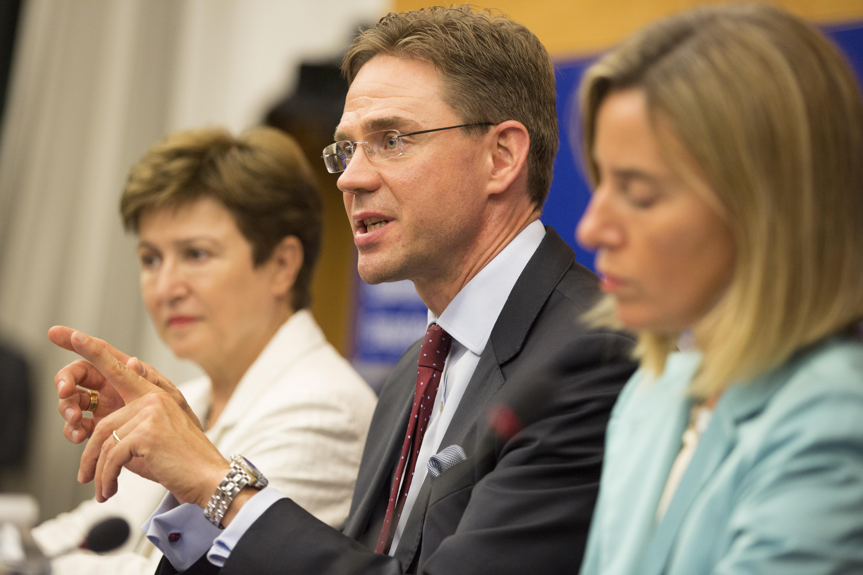 Georgieva, Katainen, Mogherini