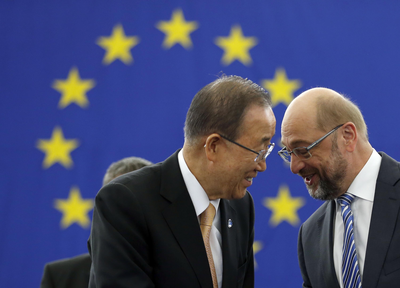 Pan Ki-mun, Martin Schulz, Parížska dohoda