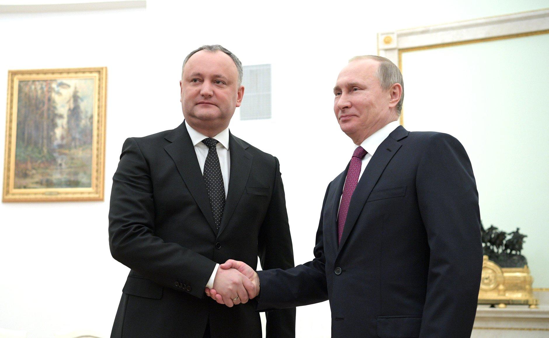 Moldavsko, Rusko, Vladimir Putin, Igor Dodon