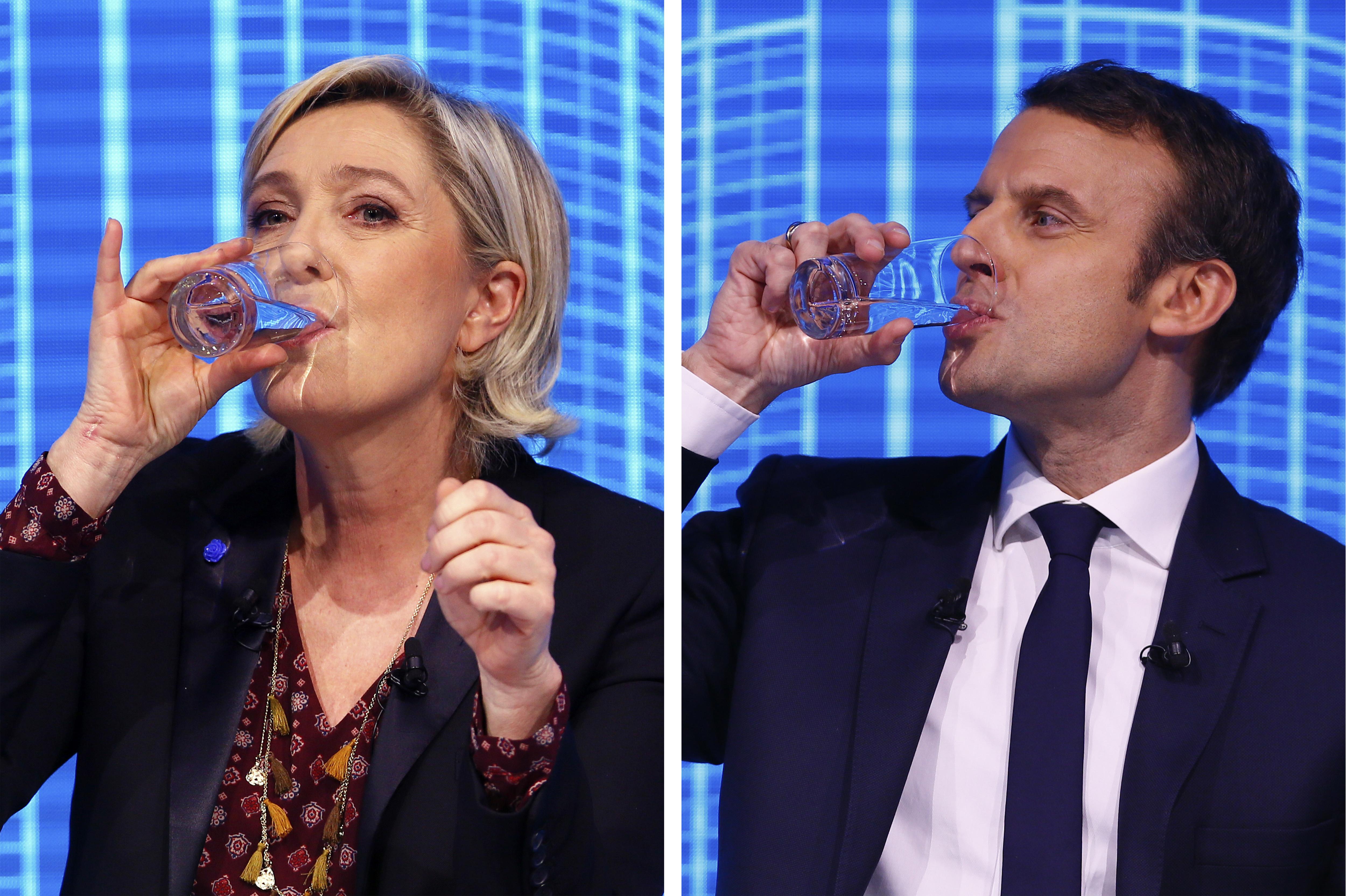 Marine Le Penová, Emmanuel Macron