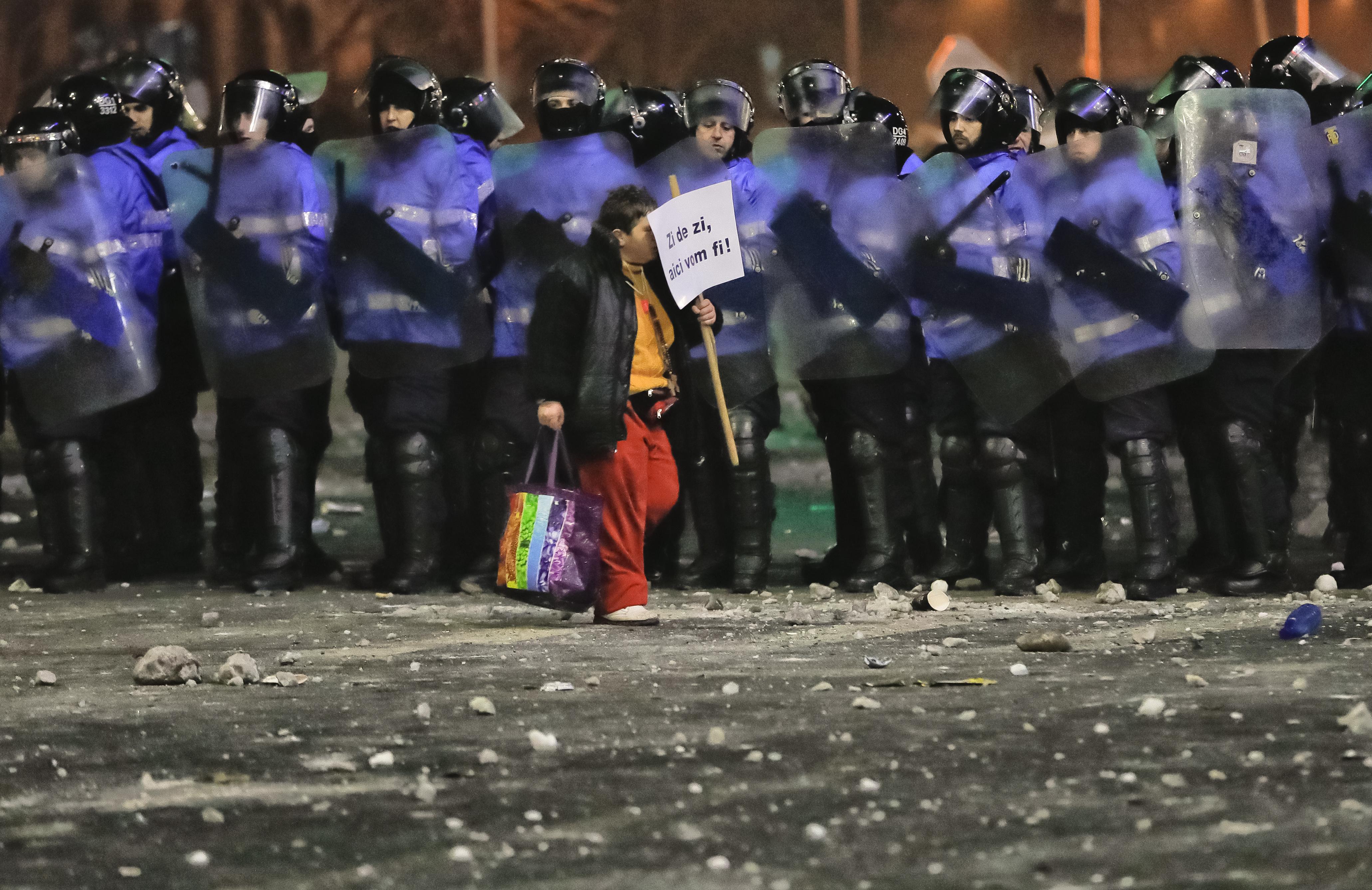 Demonštrácie v Bukurešti