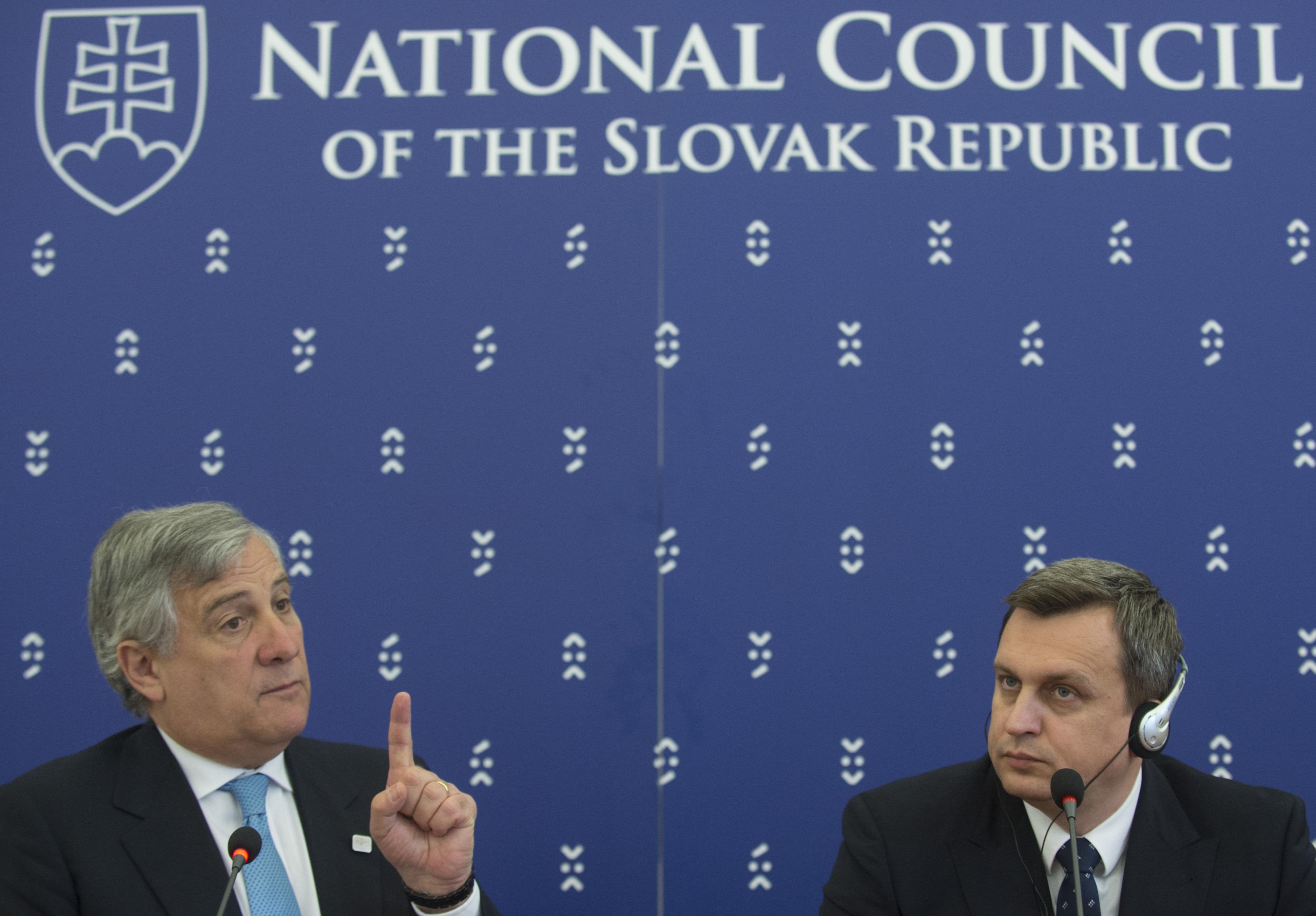 Antonio Tajani (vľavo) a Andrej Danko