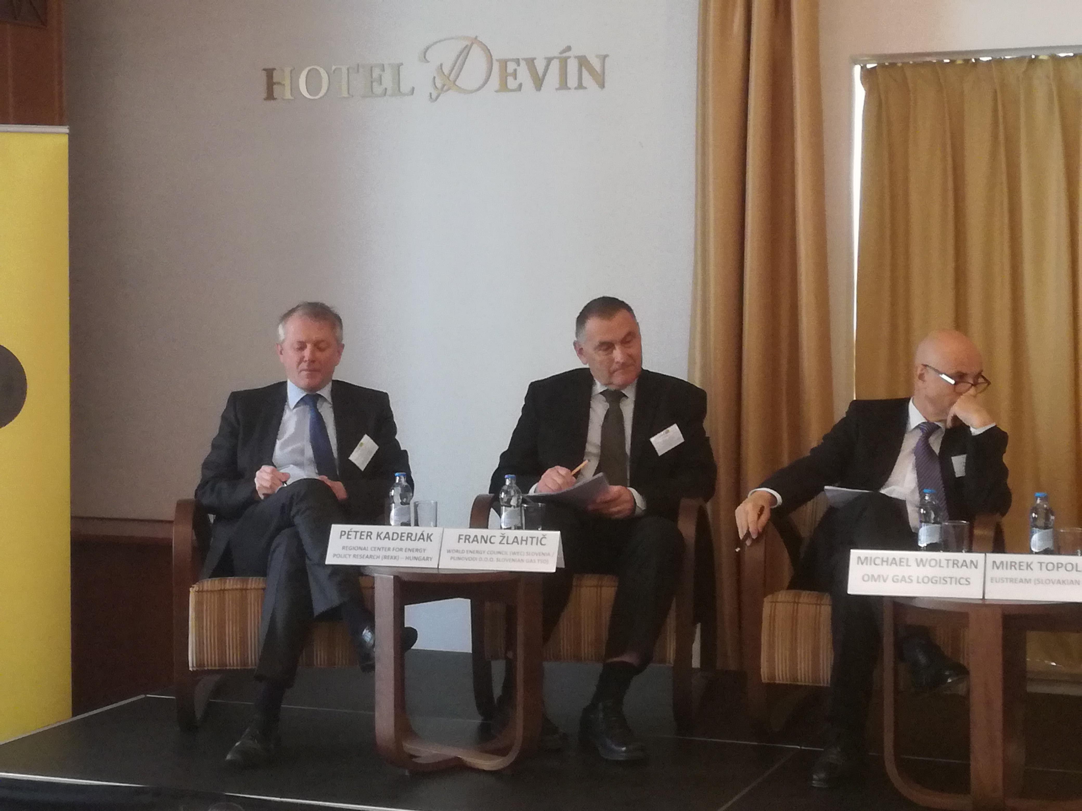 Zľava: Péter Kaderják, Franc Zlahtič, Michael Woltran