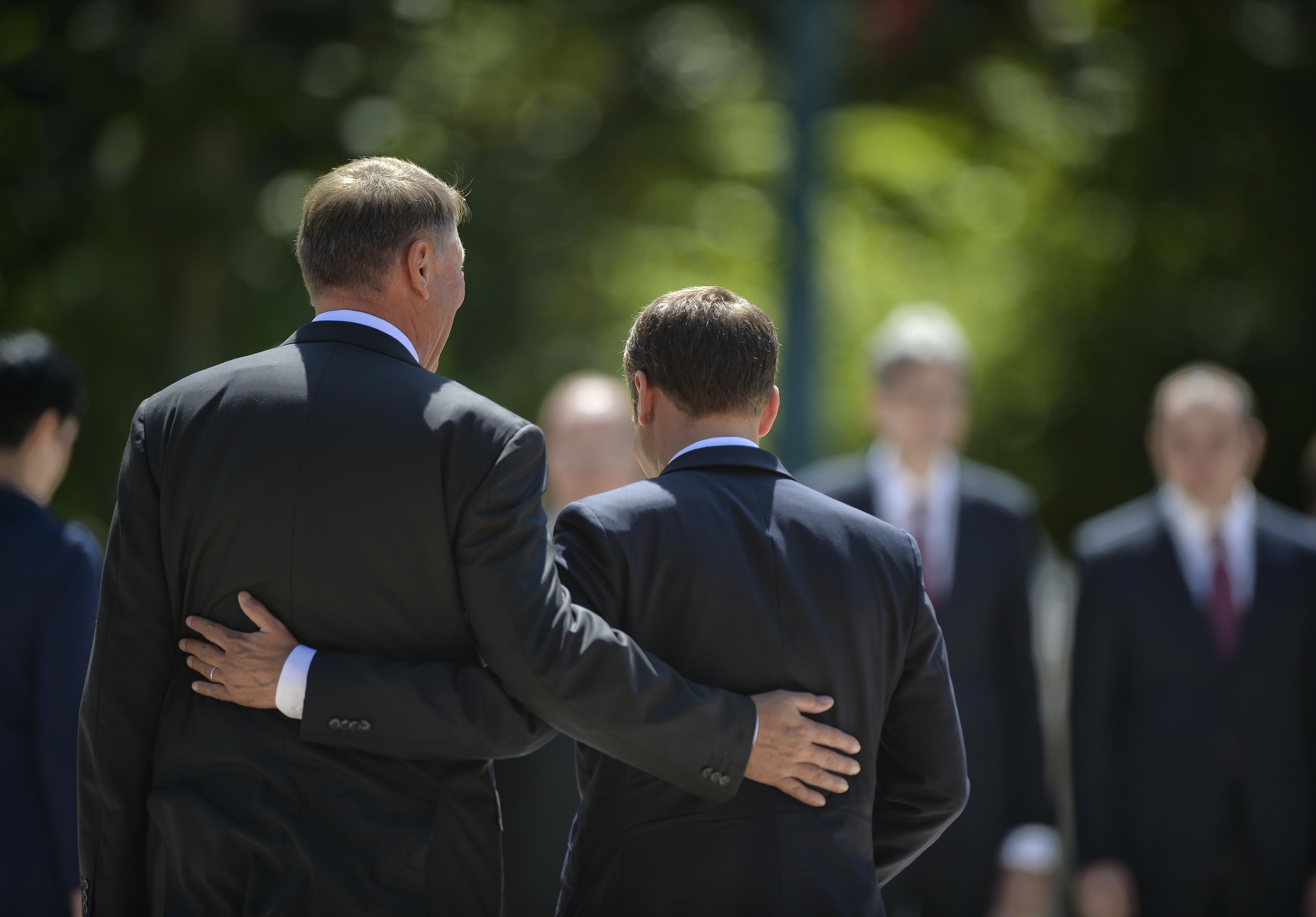 Klaus Iohannis Emmanuel Macron