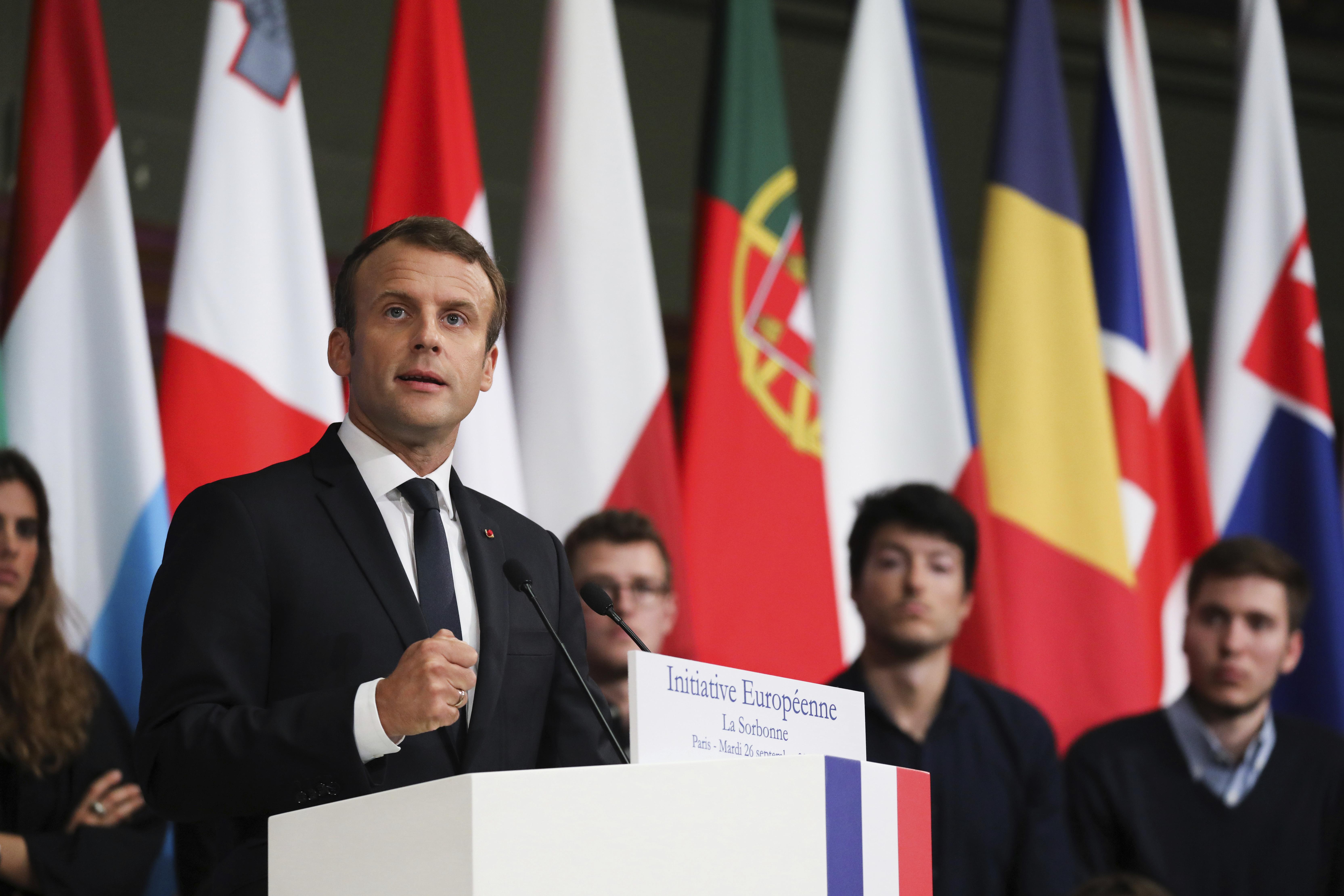 Emmanuel Macron na Sorbonne