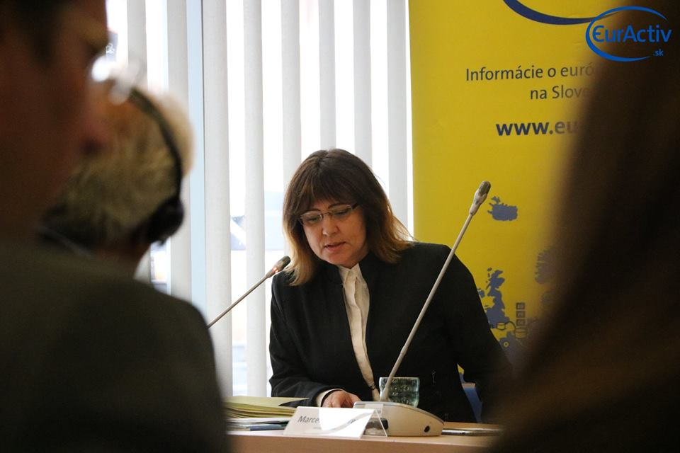 Erika Horanská z ministerstva dopravy a výstavby
